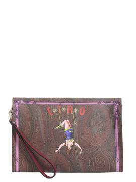 Etro Circus Printed Paisley Pouch