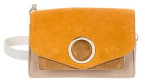 Halston Leather & Suede Crossbody Bag