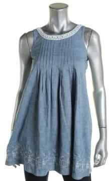 Polo Ralph Lauren Girls Girl's Chambray Flounce Dress