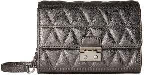 MICHAEL Michael Kors Ruby Medium Clutch Clutch Handbags - PALE GOLD - STYLE