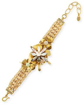 Sequin Floral Statement Bracelet