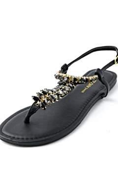 Wild Diva Black Stone Sandal