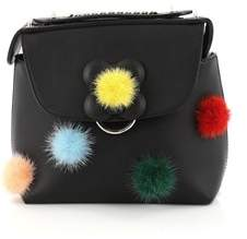 Fendi Pre-owned: Back To School Backpack Pom Pom Leather Mini.