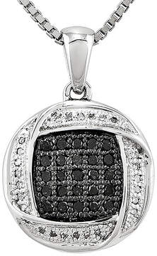Black Diamond FINE JEWELRY 1/5 CT. T.W. White and Color-Enhanced Pendant Necklace