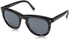 Dolce & Gabbana Women's 0DG4281 Wayfarer Sunglasses, Striped Anthracite, 52 mm