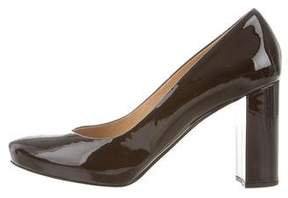 Bettye Muller Patent Leather Pointed-Toe Pumps
