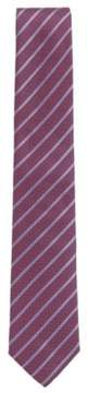 BOSS Hugo Striped Italian Silk Tie One Size Red