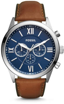 Fossil Flynn Chronograph Brown Leather Watch