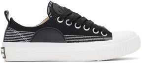 McQ Black Swallow Plimsoll Sneakers