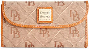 Dooney & Bourke Signature Continental Wallet, a Macy's Exclusive Style - BLACK - STYLE