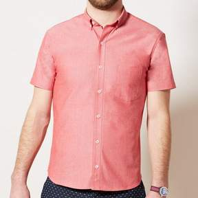 Blade + Blue Solid Red Chambray Short Sleeve Shirt - SPENCER