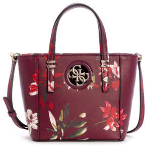 GUESS Open Road Floral-Print Mini Tote