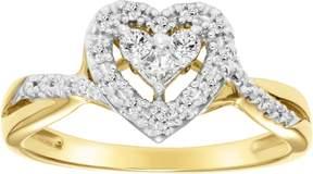 Keepsake 1/4 Carat T.W. Diamond 10kt Yellow Gold Ring