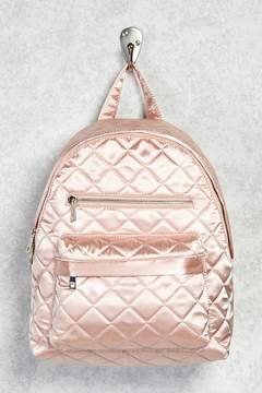 Forever 21 Quilted Satin Backpack