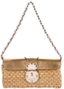 MICHAEL Michael Kors Leather-Trimmed Woven Raffia Bag