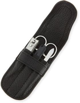 Neiman Marcus 4-Piece Manicure Set, Black