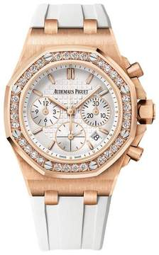 Audemars Piguet Royal Oak Offshore Silver Dial Automatic Ladies Chronograph Watch