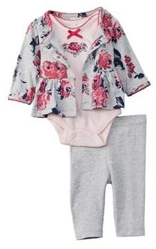 Laura Ashley Girls' 3pc Cardigan And Pant Set.