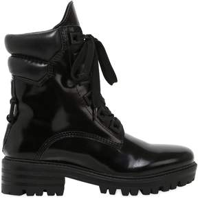 KENDALL + KYLIE 30mm East Polished Leather Combat Boots