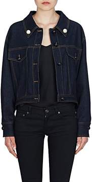 Fendi Women's Pearl Bow Denim Trucker Jacket