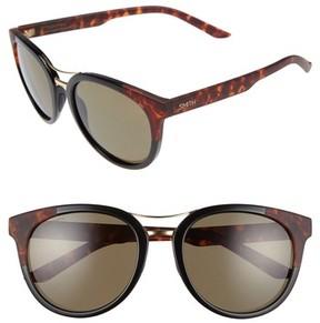 Smith Women's Bridgetown Chromapop 54Mm Polarized Sunglasses - Black/ Havana Block