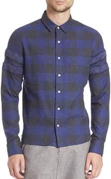 Mostly Heard Rarely Seen Men's Long Sleeve Cotton Shirt