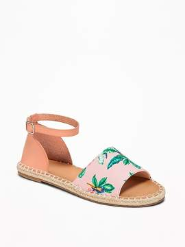 Old Navy Patterned Canvas Espadrille Sandals for Women