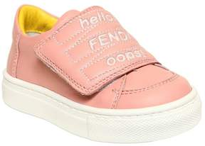 Fendi Embroidered Nappa Leather Sneakers
