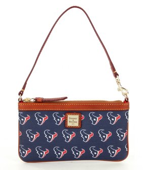 Dooney & Bourke NFL Collection Houston Texans Large Slim Wristlet - NAVY - STYLE