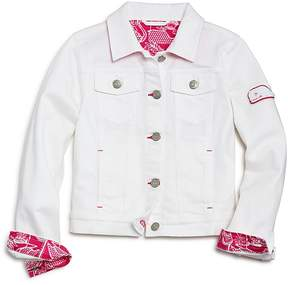 Vineyard Vines Girls' White Denim Jacket - Little Kid
