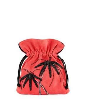 Les Petits Joueurs Trilly Palms Stone Pouch Bag