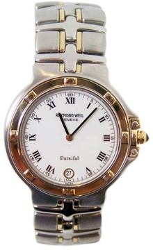 Raymond Weil 9190 Stainless Steel 18K Yellow Gold Parsifal Mens Watch