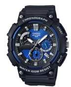 Casio Men's 3D Dial Chronograph Watch, Black/Blue - MCW200H-2AV