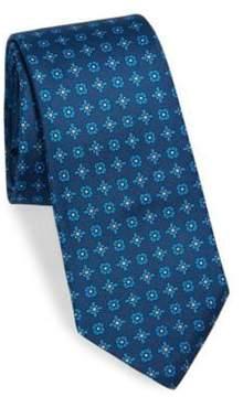 Kiton Silk Square-Print Tie