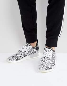 adidas Originals NMD R1 Primeknit Sneakers In White BZ0219