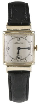 Jaeger-LeCoultre 438 10K Gold Filled Hand-Winding w/ Black Leather Band Men