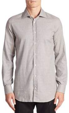Luciano Barbera Plaid Cotton Shirt