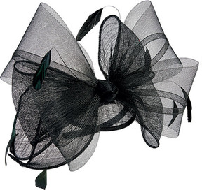 San Diego Hat Company Bow Sinamay Fascinator DRS3555 (Women's)