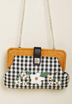 Betsey Johnson Buzzing About Blossoms Embroidered Crossbody Bag