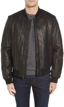 Cole Haan Men's Leather Varsity Jacket