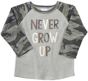 Mud Pie Never Grow Up Long Sleeve Shirt Boy's Clothing