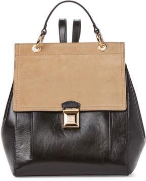 Patrizia Pepe Black & Spring Beige Leather Backpack