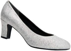 Ros Hommerson Silver Glitter Valeda Pump - Women