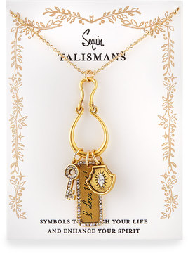 Sequin I Love You Talisman Charm Necklace