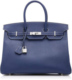 Hermes Vintage by Heritage Auctions 35cm Navy Epsom Leather Special Order Birkin
