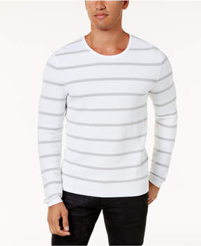 INC International Concepts Men's Textured Striped Sweater, Created for Macy's