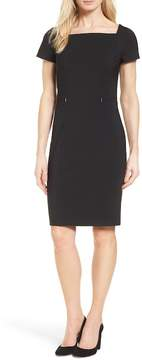BOSS Dasoni Stretch Wool Sheath Dress