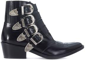 Toga Pulla Shiny Black Leather Texan