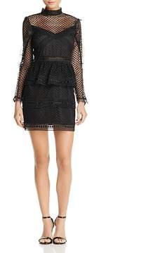 Aqua Ruffled Dot Lace Dress - 100% Exclusive