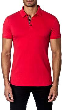 Jared Lang Men's Cotton Ribbed Solid Polo
